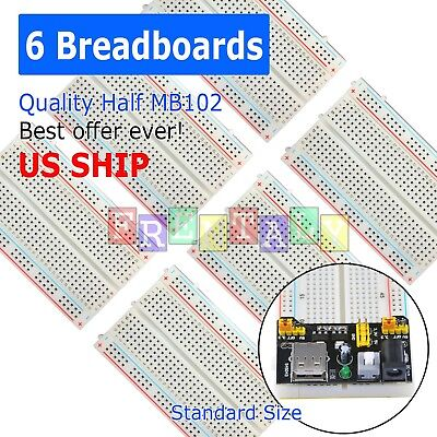 6X Mini 400 Points Prototype PCB Solderless Breadboard Protoboard