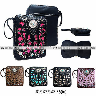 Holy bible cover case verse purse Western Rhinestone Turquoise Christian bag
