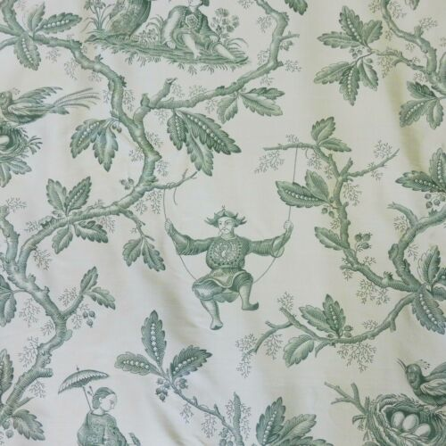 COLEFAX  & FOWLER FABRIC CHINESE TOILE - STUNNING SILK 3.0MTRS(3.28 YARDS