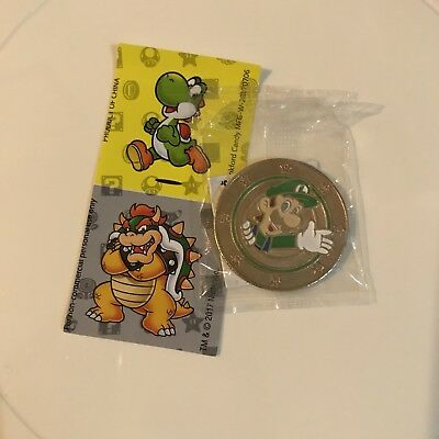 Nintendo Super Mario Wonder Ball Chocolate Candy Luigi Coin