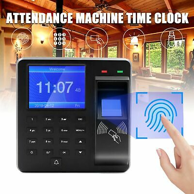 Employee Attendance Time Clock Check In Out Biometric Fingerprint Payroll Device