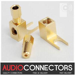 8 x Y Fork Spade - Vintage Speaker Amplifier connector /Banana Plug Adaptors SP3