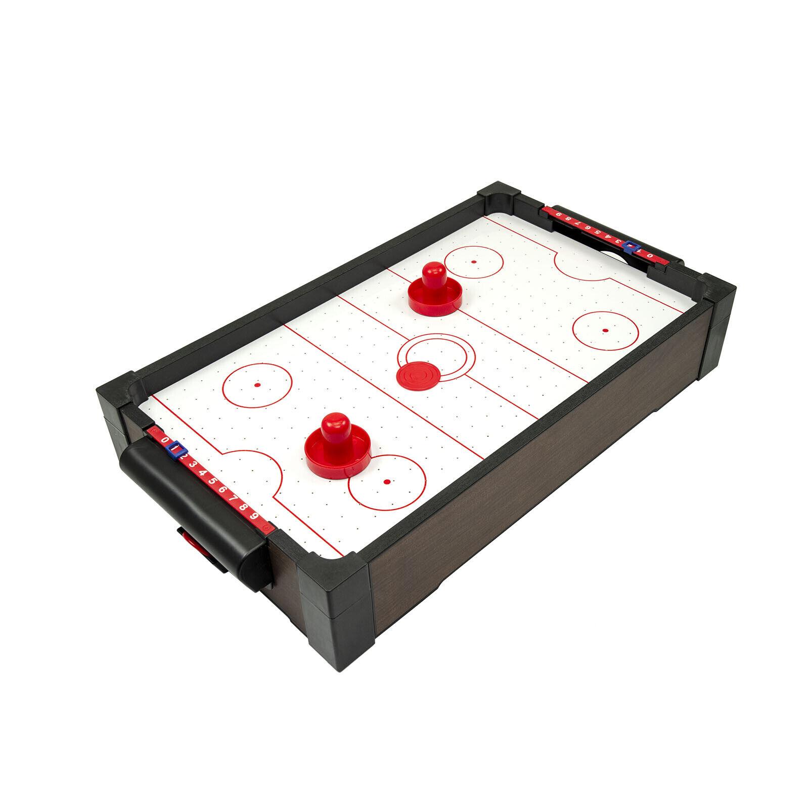 Mini Tisch Airhockey Tischhockey Lufthockey Party Spiel mit Batterien