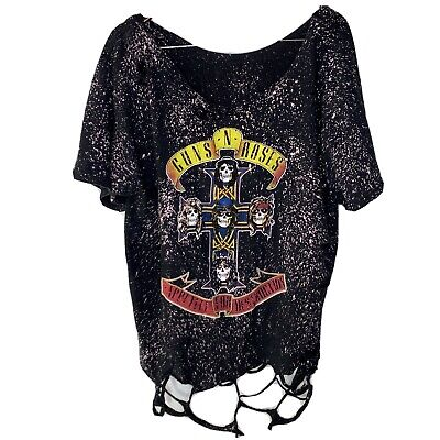 Guns N' Roses Appetite t-shirt XL Bleached Faded Distressed Destroyed Custom