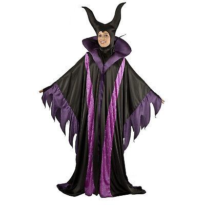 Adult Women's Villain Maleficent Magnificent Witch Horns Costume Robe Headpiece](Super Villain Costumes Female)