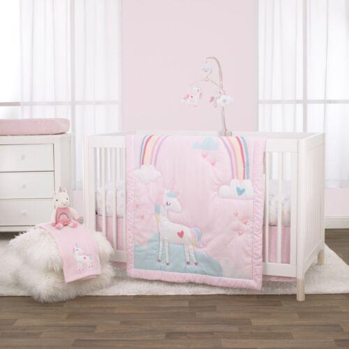 Little Love: Rainbow Unicorn 3pc Crib Set by NoJo