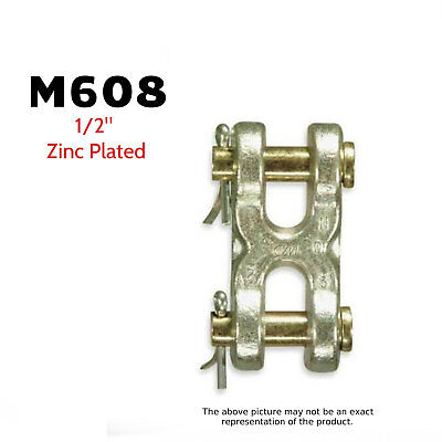 Cm Big Orange M608 Double Clevis Mid-link 12 Zinc Plated 11300 Lb. 2 Pack
