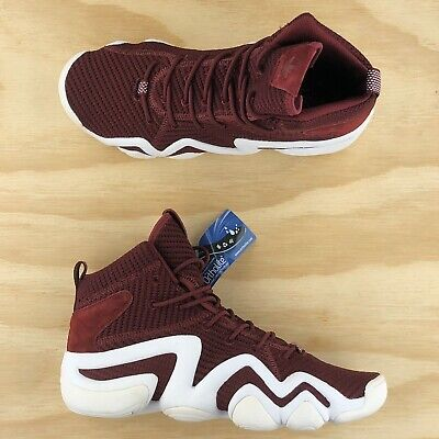 Adidas Crazy 8 ADV Primeknit Burgundy Red White Basketball Shoes BY4366 Size 8