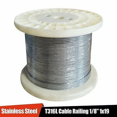 Stainless Steel T316 Cable Railing 18 1x19 50 100 200 250 500 1000 Ft
