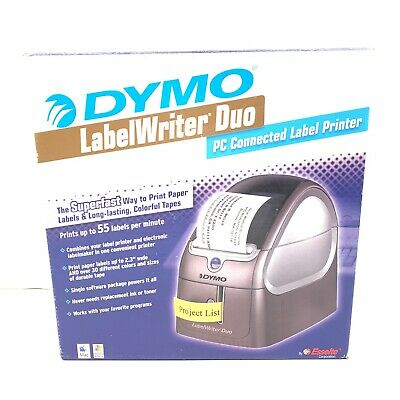 Dymo Label Writer Duo Thermal Printer Complete Bundle W 3 Label Rolls  93105