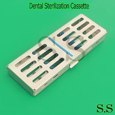 Dental Surgical Autoclave Sterilization Cassette Rack Box Tray For 5 Instruments