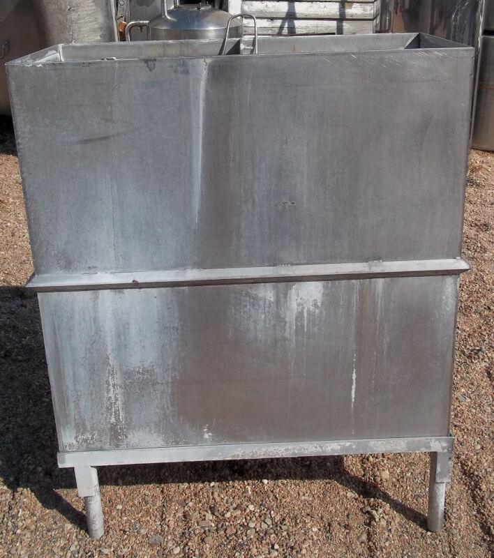 100 Gallon Stainless Steel Vat on legs