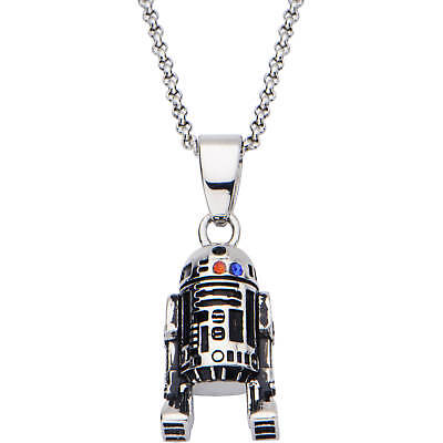 Star Wars R2-D2 3D Pendant Stainless Steel Necklace