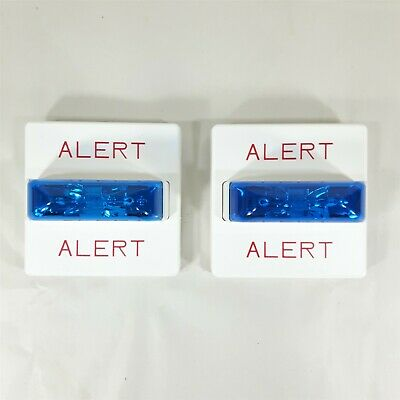 Lot Of 2 Wheelock Rssb-24mcw-nw White Fire Alarm Signal Strobe Blue Lens H2