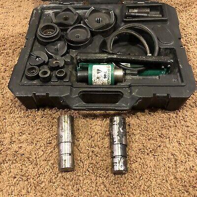 Greenlee 7310 Hydraulic Knockout Punch Set 12 To 4 7310sb Slug Buster