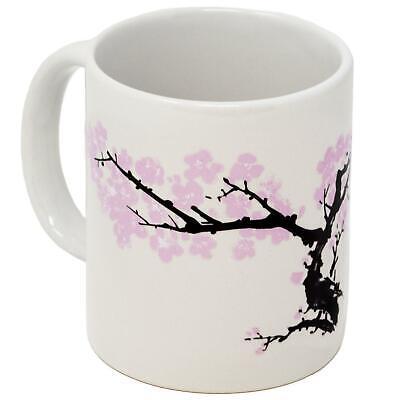 Kikkerland Cherry Blossom Morph Porcelain Coffee Mug Heat Changing Tea Cup Gift