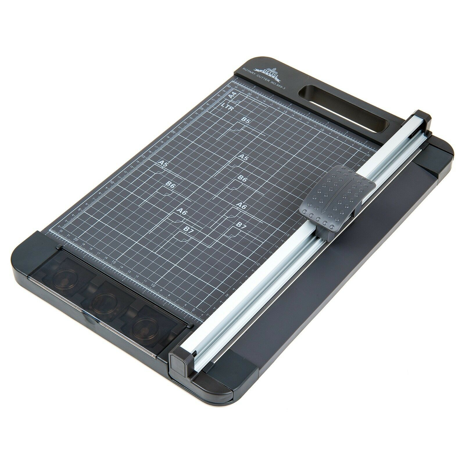 Rotary Paper Cutter 3-Way Guillotine Trimmer for Craft Paper