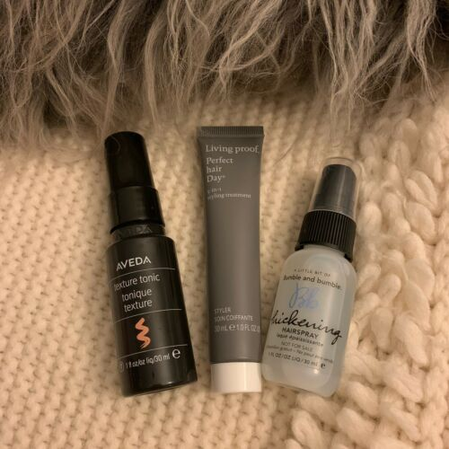 new set of 3 hair products samples