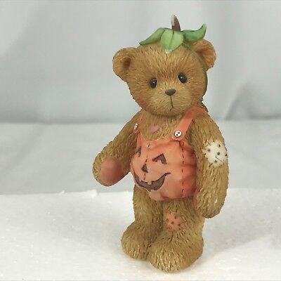 Cherished Teddies Adelaide 798835 Bear Pumpkin Costume Figurine Jack-O-Lantern  - Adelaide Halloween Costumes