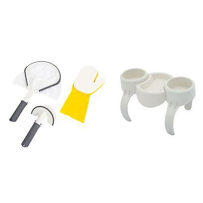 Bestway SaluSpa Hot Tub Spa All-in-1 Cleaning Tool + Drinks Holder & Snack Tray