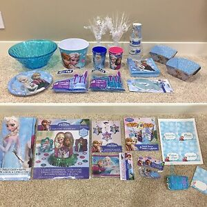HUGE Lot of Frozen Birthday / Party Decorations