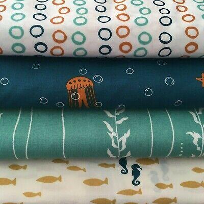 Birch Fabrics Beyond the Sea 100% organic cotton, quilt, craft, dress, patchwork