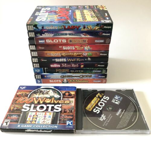 Computer Games - Casino Slots Machine IGT Computer Games Pc Mac DVD Rom Software Lot Of 12