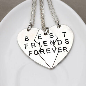 Parts-Best-Friends-Forever-Friendship-Necklace-One-Set-3-PiecesThree Best Friends Forever Necklace
