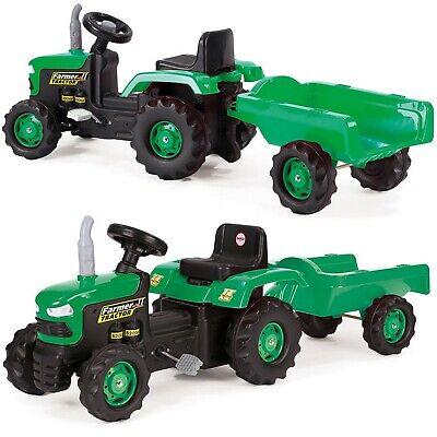 Trettraktor Tretauto Kinder Anhänger Traktor Kindertraktor Auto Kinderfahrzeug