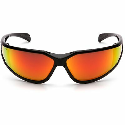 Pyramex Exeter Safety Glasses With Red Anti-fog Mirror Lens Black Frame