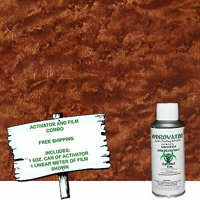 Hydro Dip Hydrographic Film Water Transfer 6oz Activator Wwalnut Wood 1 Kit