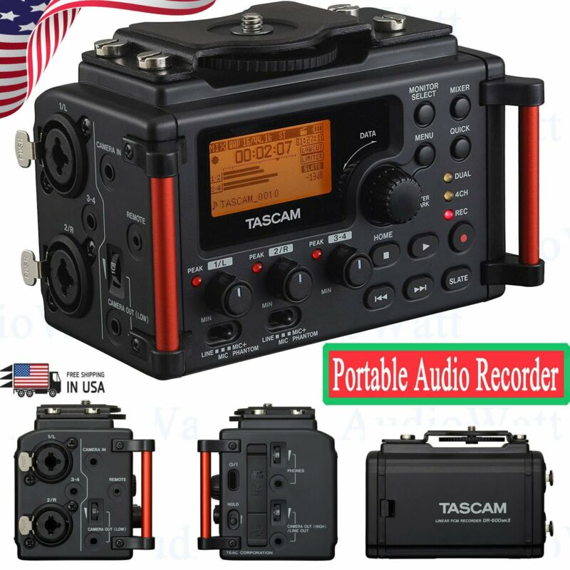 Tascam DR-60DMKII 4-Channel Portable Audio Recorder / Mixer for DSLR Filmmakers