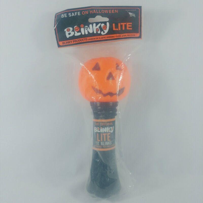 Vintage NOS Blinky Lite Halloween Pumpkin Flashlight Never Opened Made In USA