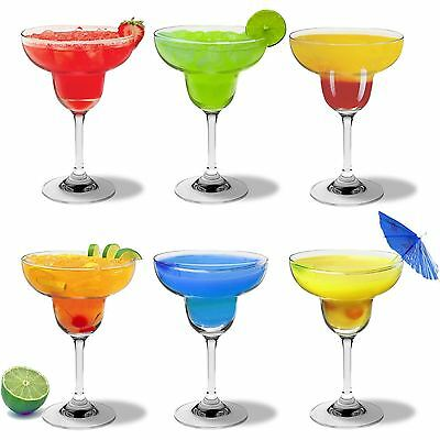 Margarita Cocktail Drinking Glasses In Gift Box - 270ml - x6
