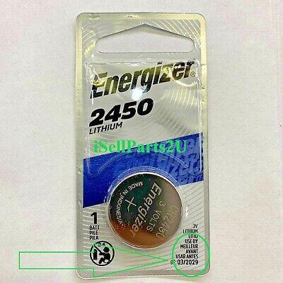 2 x Super Fresh Energizer CR2450 ECR 2450 3v LITHIUM Coin Cell Battery Exp. 2029
