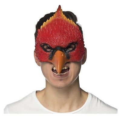 Adult Cardinal Bird Hawk Angry Birds Game Red Halloween Costume Foam Eye - Angry Bird Masks