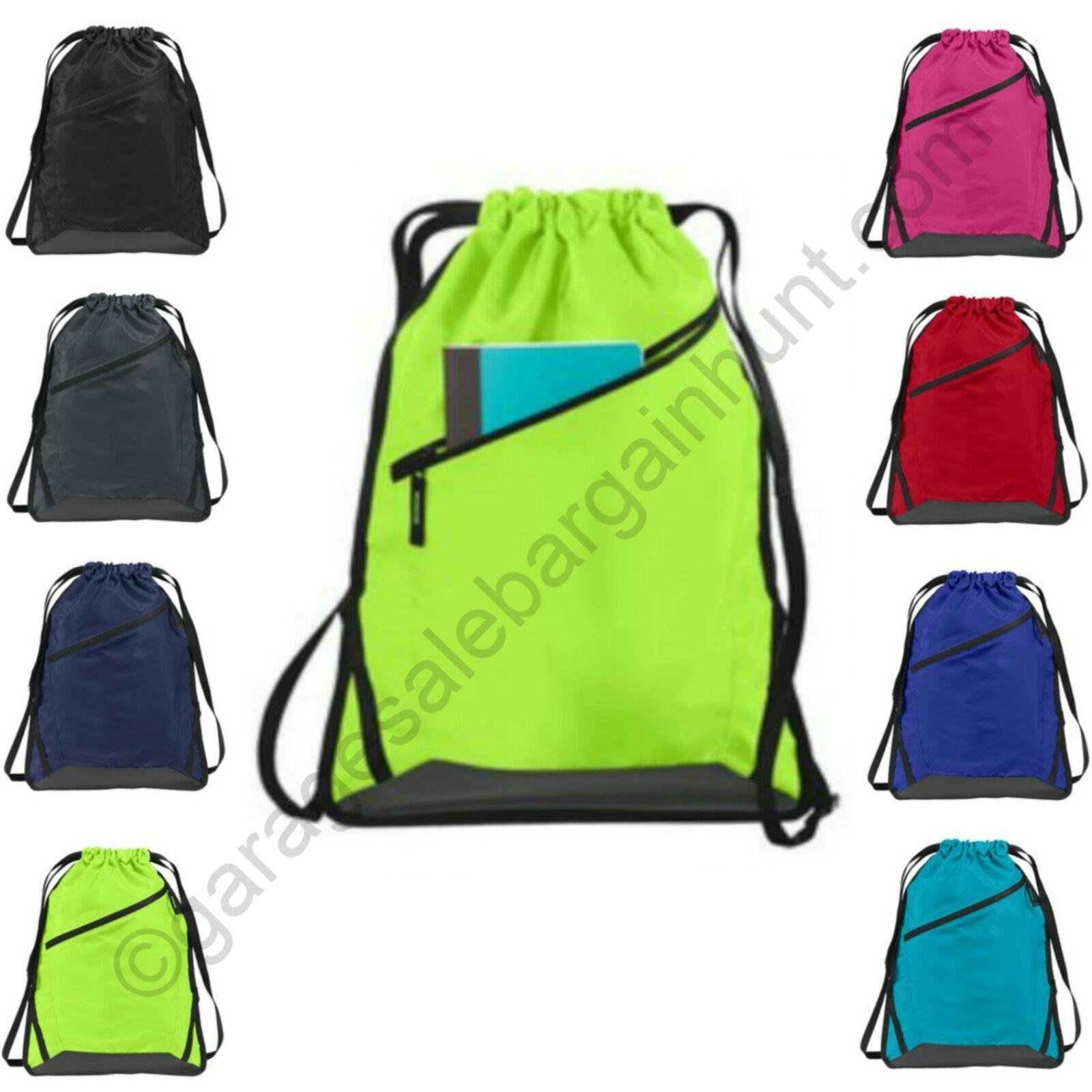 e3f7d87ac443 Details about Cinch Sack Backpack String Drawstring Backpack Gym Bag Tote  School Sport Travel