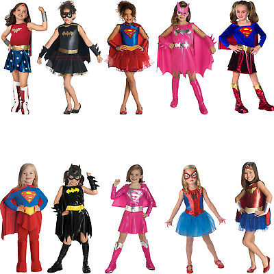Childs Superhero Fancy Dress Costume Halloween Book Week Kids New Girls Outfit - Superhero Girl Costumes Halloween