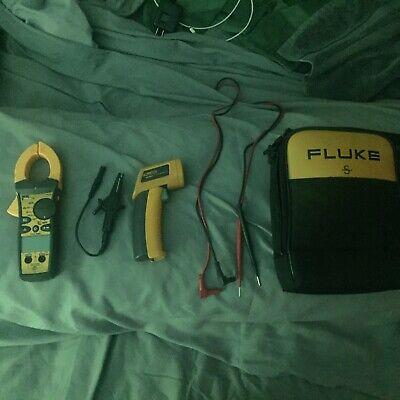 Ideal 61-763 Meter Plus Fluke Temp Gun And Fluke Case. Light Used Equipment.