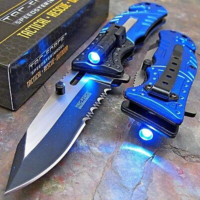 Foldable Pocket Knife Best Flashlight Personal Defense Weapons Small