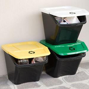 DEA 3er Set Mülltrennsystem Mülleimer Mülltrenner Abfalleimer Müllsammler #436