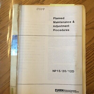 Clark Np152012d Electric Fork Lift Maintenance Manual Guide Book Reach Truck