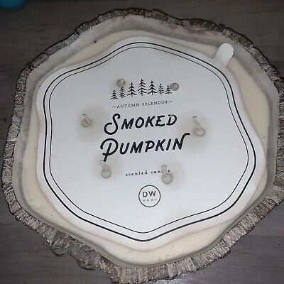 DW Home Autumn Splendor Smoked Pumpkin Tree Trunk 6 Wick Candle 10.5 Lbs ~Rustic