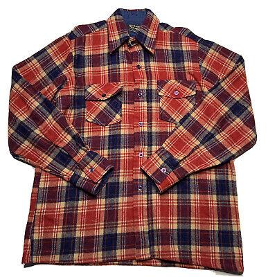 1970s Mens Shirt Styles – Vintage 70s Shirts for Guys Vintage 1970s Brewster Woolothewest Plaid Flannel Wool Blend Shirt Mens Medium $34.93 AT vintagedancer.com
