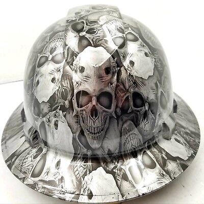 Hard Hat Full Brim Custom Hydro Dipped Engraved Skulls Of Death Best Price