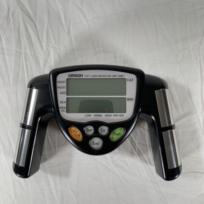 Omron HBF-306C Fat Loss BMI Monitor Tracker Black Tested
