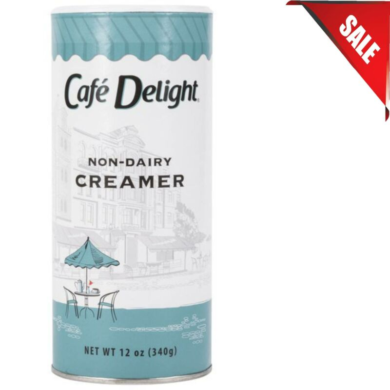 (CASE OF 24) 12 oz. Flavored Non-Dairy Powdered Coffee Rich Creamer Shakers Can