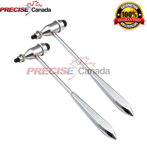 02 Pcs Tromner Reflex Percussion Hammer,Neurological,Diagnostic,23.5cm.