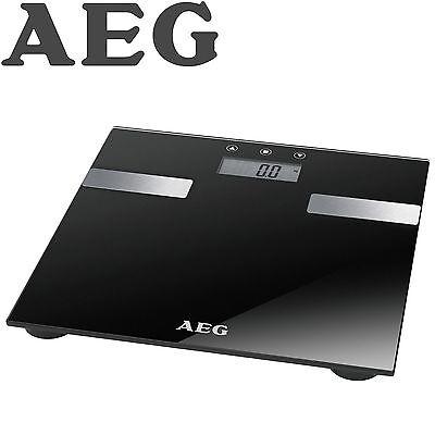 AEG 7in1 Personenwaage bis 180 kg Körperfett-Waage Analyse-Waage Glas PW 5644