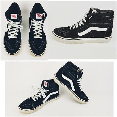 Vans of the wall Black / White High Top/Mid Skateboard Shoes Trainers lace up